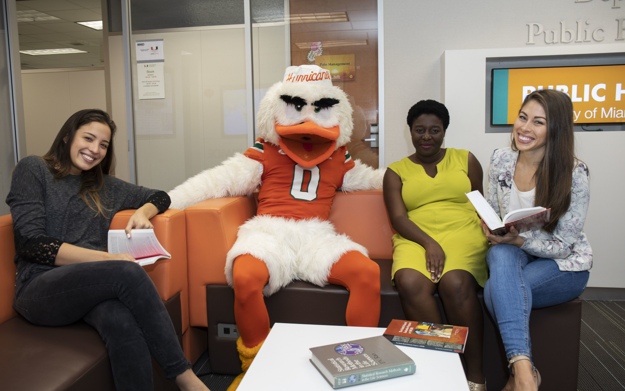 Sebastian the Ibis with Students